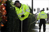 Police looking for evidence on the streets of a housing estate in York in the continuing search for Claudia Lawrence who went missing. - Christopher Thomond - 26-03-2009