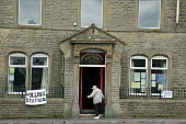 A voter arriving at Worsthorne Parish Rooms in Lancashire. - Christopher Thomond - 04-06-2009