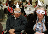 Disabled pensioners at Day Centre Millennium Party. - Duncan Phillips - 01-01-2000