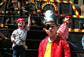 Children dressed up as pirates visiting the replica of the Golden Hind London - Duncan Phillips - 16-10-2002
