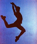 Dancer leaping. - Duncan Phillips - 2000s,2002,ACE arts culture,Ballerina,Ballerinas,Ballet,bodies,body,dance,dancer,dancers,dancing,lift,lifting,melody,movement,music,MUSICAL,people,person,persons,wellbeing,YOUNG,YOUNGER,youth,youthful