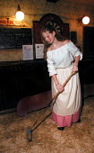 Waitress during a historical Christmas promotion at a Derbyshire pub - David Bocking - 09-12-2001