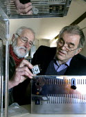 Graham Cole (left) and Gordon Ferguson of Repair Sheffield mending a toaster. The voluntary group runs regular Repair Cafes where the public are shown how to mend many household items to help them sav... - David Bocking - 2010s,2015,adult,adults,AGE,ageing population,assisting,cafe,cafes,catering,class,communicating,communication,communities,community,economic,economy,ELDERLY,ELECTRONIC,electronics,exchange,exchanging,