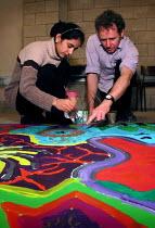 Art lesson at Yorkshire Arts Space, Sheffield - David Bocking - 26-01-2002