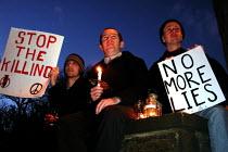 Vigil for Peace in Sheffield - David Bocking - 02-04-2003