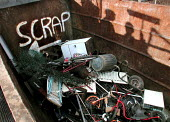 Scrap skip at a Sheffield recycling centre operated by Onyx - David Bocking - 20-02-2004