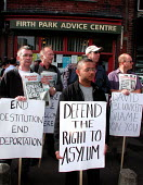 Sheffield Committee to Defend Asylum Seekers lobby of MP David Blunkett's surgery in Sheffield. Iraqi Naseh Ghafor from the city, who has been refused asylum in the UK and has recently ended his 44 da... - David Bocking - 11-09-2004