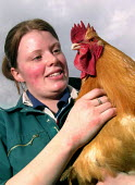 Veterinary student (and volunteer) working at a city farm in Sheffield - David Bocking - 24-03-2005