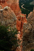 The eroded side of a canyon in Bryce Canyon National Park. - David Bacon - 07-08-2005