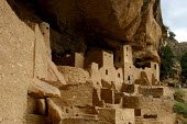 Sunset at the Cliff Palace, the largest cliff dwelling established by the Puebloan people at Mesa Verde. This area was inhabited from about 700-1400AD, by people whose descendents are the modern Puebl... - David Bacon - 06-08-2005