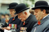 Jewish ex-service men and womens Remembrance Service in Whitehall.  Edmond Rothschild - David Mansell - 2000s,2002,adult,adults,age,ageing population,army,elderly,Jewish,male,man,MATURE,medal,medals,men,oap,oaps,old,parade,PENSION,pensioner,pensioners,PENSIONS,people,person,persons,Remembrance,RETIRE,re