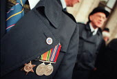 Jewish ex-service men and womens Remembrance Service in Whitehall. - David Mansell - 17-11-1996