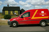 Royal Mail postman delivers letters to Derek Jarman 's house at Dungeness, Kent, the country's largest and oldest shingle beach dating back over 800 years. - David Mansell - 03-05-2004