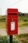 Dungeness, Kent, the countrys largest and oldest shingle beach dating back over 800 years.Royal Mail letter post box - David Mansell - 03-05-2004