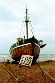 Dungeness, Kent. Fishing boat for sale. - David Mansell - 10-11-2000