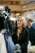 Emily Maitlis journalist and TV presenter, seen during the making of an outside broadcast of the BBC Newsnight programme at the Conservative Party Conference 2007. - David Mansell - 01-10-2007
