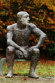 Sitting Man 11 by Elisabeth Frink, Yorkshire Sculpture Park, the largest collection of sculptures in the UK - David Mansell - 25-11-2007