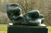 Henry Moore's Reclining Woman at Yorkshire Sculpture Park, the largest collection of sculptures in the country. - David Mansell - 25-11-2007