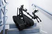 Talon Robot is made and designed by QinetiQ Ltd, it is used by military forces to detect and disarm terrorist bombs and to go into unsafe areas and buildings. - David Mansell - 14-11-2006
