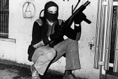 Armed IRA gunmen on the streets, West Belfast, Northern Ireland, 1979 - David Mansell - ,1970s,1979,armed,Armed Forces,arms,Army,balaclava,balaclavas,Catholic,catholics,cities,city,communities,community,conflict,conflicts,confront,confrontation,confronted,confronting,fight,fighting,firea