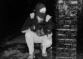 Armed IRA gunmen on the streets, West Belfast, Northern Ireland, 1979 - David Mansell - 1970s,1979,armed,Armed Forces,arms,Army,balaclava,balaclavas,Catholic,catholics,cities,city,communities,community,conflict,conflicts,confront,confrontation,confronted,confronting,fight,fighting,firear