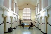 A day in the life of the inmates and staff of Kingston Prison, Portsmouth. The corridor on the lifers wing where the prisoners can talk and read newspapers. - David Mansell - 16-01-2001