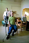 A day in the life of the inmates and staff of Kingston Prison, Portsmouth. Prisoners who are serving life for murder on the 'E-wing' for elderly prisoners. This is a unique wing in the prison service... - David Mansell - 16-01-2001