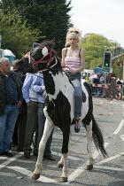 Riding bareback, Annual Horse Fair. Wickham Hampshire - David Mansell - 21-05-2012