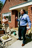 Conservative Party MP Kenneth Clarke on the campaign trail in his Nottingham constituency. Clarke meets staunch Consevative voters in Whatton. - David Mansell - 22-05-2001