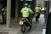Birmingham University - West Midlands Police Officers using off road motorcycles to patrol the university campus and surrounding areas to fight and beat crime. - David Mansell - 15-03-2005