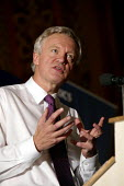 David Davis who is the favourite in the Conservative Party leadership campaign seen at speaking at the Bow fringe meeting during the Conservative Party Conference 2005. - David Mansell - 03-10-2005