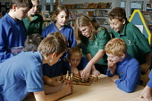 Bridgemary Community School, Gosport, Hampshire, where students are taught in classes of ability and not by their ages, so the subject classes are made up of pupils with different ages, who can be two... - David Mansell - 28-11-2005
