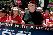 Filmmaker Michael Moore in Sacramento to show a preview of his film Sicko, and advocate single payer health care reform. He was invited by the California Nurses Association, who campaign for single pa... - David Bacon - 2000s,2007,ace,activist,activists,against,America,California,campaign,campaigner,campaigners,campaigning,CAMPAIGNS,CNA,DEMONSTRATING,demonstration,demonstration American,DEMONSTRATIONS,Film,health,LON