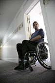 Robert Marando, a disabled client of California Rural Legal Assistance, awaiting eviction from his apartment in downtown Santa Rosa. California USA - David Bacon - 08-10-2009
