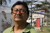 Victor Varelas is a parent and grandparent, outside McKinley Elementary School in one of California's poorest cities. He has opposed the takeover of the school by the Parent Revolution education refor... - David Bacon - 05-02-2011