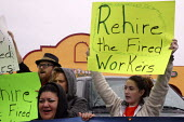 OAKLAND, CA (3/13/11) -- Members of the Progressive Jewish Alliance, the Jeremiah Fellowship, Mexican supermarket (or mercado) workers and union organizers protest the sacking of 300 workers by the Me... - David Bacon - 13-03-2011