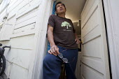Oakland, California: An immigrant day laborer from Morelos, Mexico. He lives in Oakland and gets work on the street in Berkeley. Like many day laborers he often doesn't have enough money to buy food o... - David Bacon - 01-11-2013