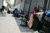 California - Street scene on Skid Row, Los Angeles - David Bacon - 07-05-2014