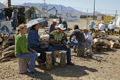 Cananea, Sonora, Mexico, Striking miners at the Cananea copper mine occupying a pumping station, which has shut down mine operations. They are joined by residents and farmers of towns on the Sonora Ri... - David Bacon - 26-03-2015