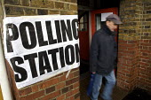 Mayoral Election, Polling Station, Barnet, London. - Duncan Phillips - 2000s,2008,council,democracy,election,elections,local,local authority,london,male,man,mayor,MAYORAL,MAYORS,men,people,person,persons,pol politics,political,POLITICIAN,POLITICIANS,politics,polling,prec