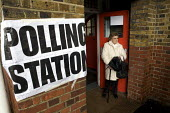 Mayoral Election, Polling Station, Barnet, London. - Duncan Phillips - 2000s,2008,council,democracy,election,elections,FEMALE,local,local authority,london,mayor,MAYORAL,MAYORS,people,person,persons,pol politics,political,POLITICIAN,POLITICIANS,politics,polling,precipitat