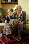 Grandmother reading to Grandchild - Duncan Phillips - 17-01-2002