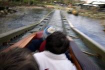 Children on a water ride Legoland, Windsor - Duncan Phillips - 02-04-2006