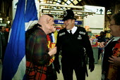 British Transport Police officers and Scotland Fans Kings Cross Station - Duncan Phillips - 15-09-1999