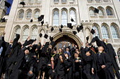 University graduation celebration, Guildhall, London - Duncan Phillips - mortarboard,2000s,2006,CELEBRATE,celebrating,celebration,CELEBRATIONS,chinese,cities,city,degree,edu education,education,EMOTION,EMOTIONAL,EMOTIONS,FEMALE,foreign,foreigner,foreigners,graduate,graduat