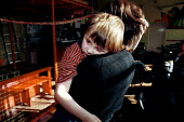 Autistic child with mother at an indoor play centre - Duncan Phillips - ,1990s,1999,a,adult,adults,autism,autistic,barn,Behavioural,child,CHILDHOOD,children,difficulties,DIFFICULTY,disabilities,disability,disable,disabled,disablement,disorder,disorders,edu,edu education,e