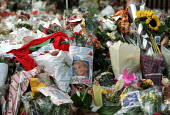 Flowers left by mourners at Diana Princess of Wales Funeral, London - Duncan Phillips - 06-09-1997
