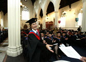 Graduation ceremony - Duncan Phillips - 2000s,2004,awarded,ceremonies,ceremony,degree,degrees,edu education,education,FEMALE,graduate,graduates,Graduation Day,Higher Education,people,person,persons,student,students,success,University,wellbe