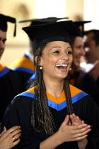 Graduation ceremony - Duncan Phillips - 2000s,2004,awarded,BAME,BAMEs,black,BME,bmes,ceremonies,ceremony,degree,degrees,diversity,edu education,education,ethnic,ethnicity,FEMALE,graduate,graduates,Graduation Day,Higher Education,minorities,