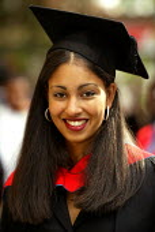Graduation ceremony - Duncan Phillips - 2000s,2004,asian,awarded,BAME,BAMEs,black,BME,bmes,ceremonies,ceremony,degree,degrees,diversity,edu education,education,ethnic,ethnicity,FEMALE,graduate,graduates,Graduation Day,Higher Education,minor